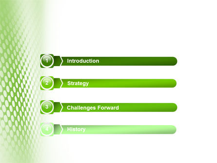 Green Grid PowerPoint Template Slide 3