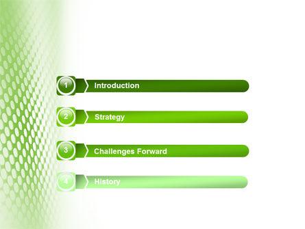 Green Grid PowerPoint Template, Slide 3, 01585, Abstract/Textures — PoweredTemplate.com
