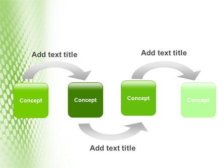 Green Grid PowerPoint Template, Slide 4, 01585, Abstract/Textures — PoweredTemplate.com