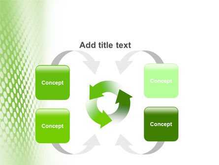 Green Grid PowerPoint Template Slide 6