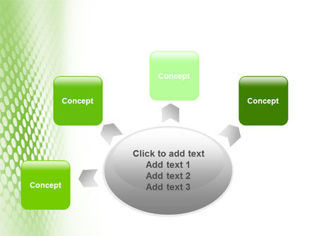 Green Grid PowerPoint Template Slide 7