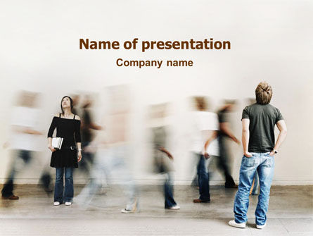 Society PowerPoint Template, 01586, People — PoweredTemplate.com