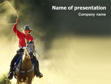 Cowboy PowerPoint Template, 01588, America — PoweredTemplate.com