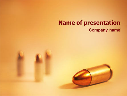 Military: Bullet PowerPoint Template #01589