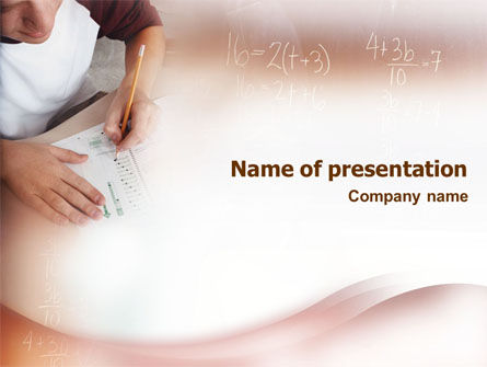 Education & Training: Mathematics PowerPoint Template #01591