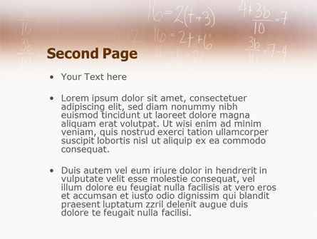 Mathematics PowerPoint Template Slide 2