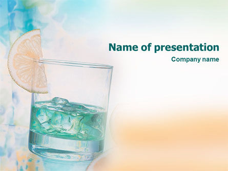 Drink PowerPoint Template, 01594, Food & Beverage — PoweredTemplate.com