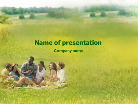 People: Outing PowerPoint Template #01595