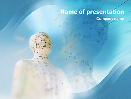 Medical: Acupuncture PowerPoint Template #01599
