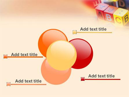 ABC Educational Cubes PowerPoint Template Slide 10