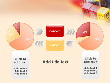 ABC Educational Cubes PowerPoint Template Slide 11