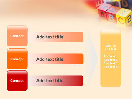 ABC Educational Cubes PowerPoint Template Slide 12
