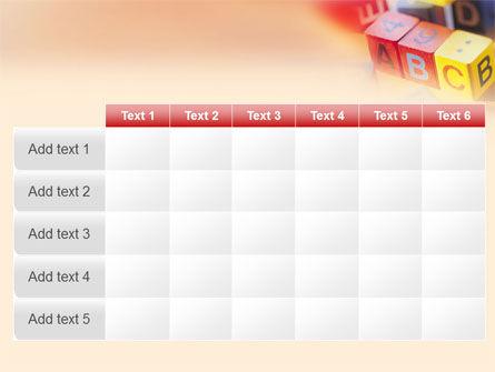 ABC Educational Cubes PowerPoint Template Slide 15
