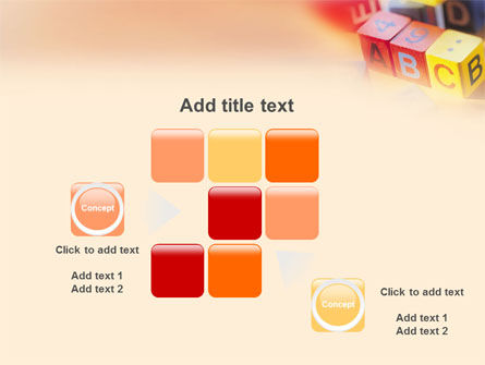 ABC Educational Cubes PowerPoint Template Slide 16