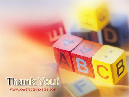 ABC Educational Cubes PowerPoint Template Slide 20