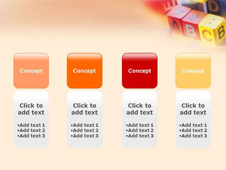 ABC Educational Cubes PowerPoint Template Slide 5