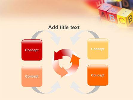 ABC Educational Cubes PowerPoint Template Slide 6