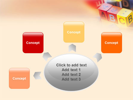 ABC Educational Cubes PowerPoint Template Slide 7
