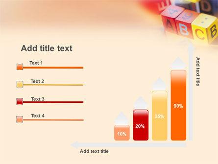 ABC Educational Cubes PowerPoint Template Slide 8