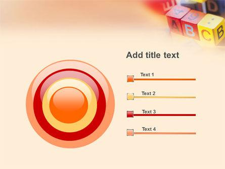 ABC Educational Cubes PowerPoint Template Slide 9