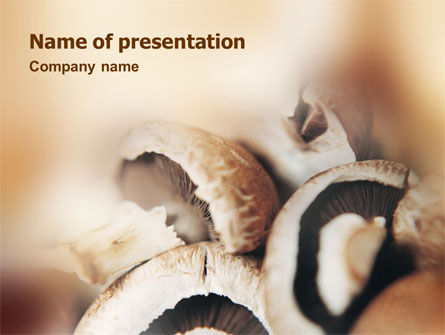 Mushrooms PowerPoint Template, 01601, Food & Beverage — PoweredTemplate.com