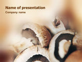 Food & Beverage: Mushrooms PowerPoint Template #01601