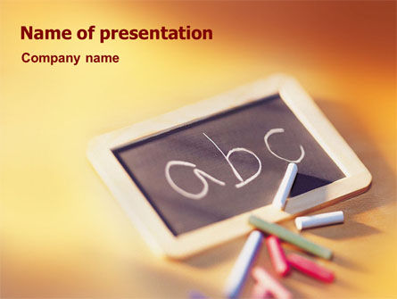 ABC PowerPoint Template, 01603, Education & Training — PoweredTemplate.com