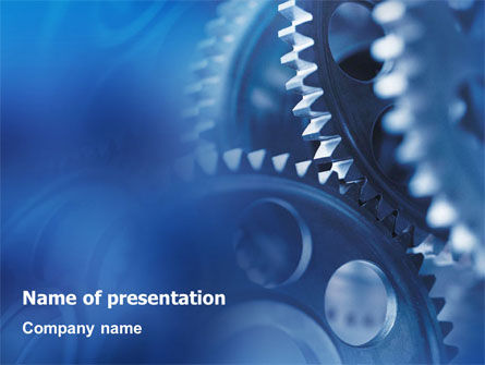 Utilities/Industrial: Mechanism PowerPoint Template #01604