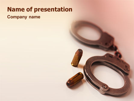 Legal: Breach of the Law PowerPoint Template #01605
