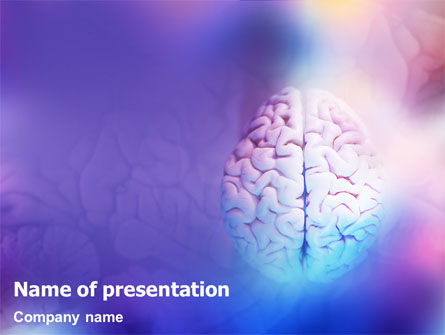 Brain Powerpoint Template, Backgrounds | 01606 | Poweredtemplate.Com