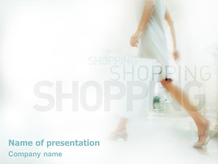 Women On Shopping PowerPoint Template, 01607, Business Concepts — PoweredTemplate.com
