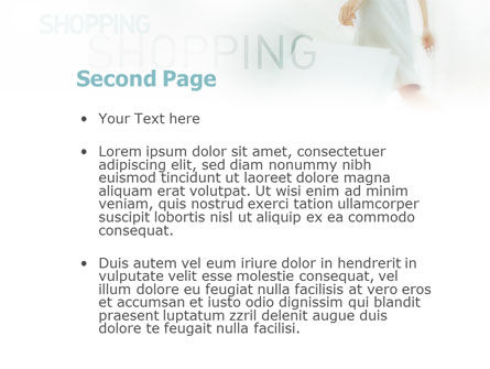 Women On Shopping PowerPoint Template, Slide 2, 01607, Business Concepts — PoweredTemplate.com