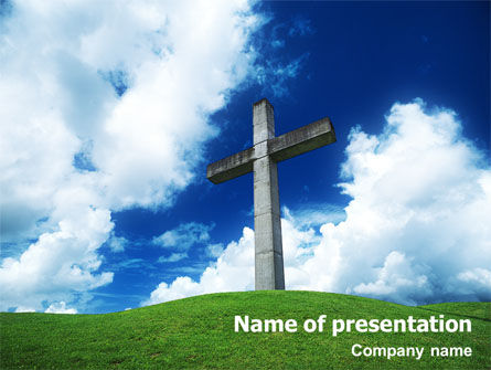Cross PowerPoint Template, 01608, Religious/Spiritual — PoweredTemplate.com