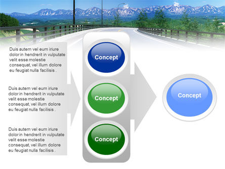 Highway In The Hill Country PowerPoint Template Slide 11