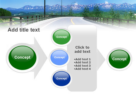 Highway In The Hill Country PowerPoint Template Slide 17