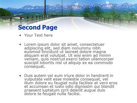 Highway In The Hill Country PowerPoint Template Slide 2