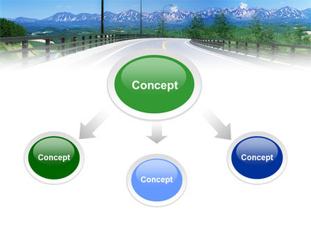 Highway In The Hill Country PowerPoint Template Slide 4
