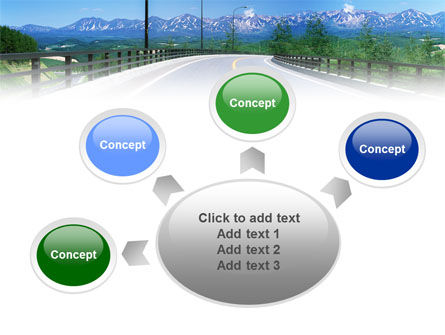 Highway In The Hill Country PowerPoint Template Slide 7
