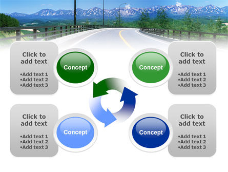 Highway In The Hill Country PowerPoint Template Slide 9