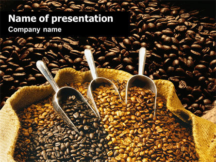 Coffee Beans In A Bag PowerPoint Template