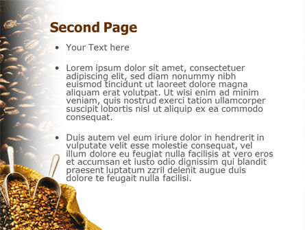 Coffee Beans In A Bag PowerPoint Template, Slide 2, 01613, Careers/Industry — PoweredTemplate.com