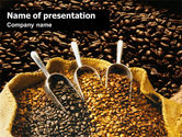 Careers/Industry: Coffee Beans In A Bag PowerPoint Template #01613