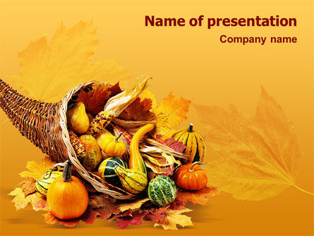 Holiday/Special Occasion: Thanksgiving PowerPoint Template #01615