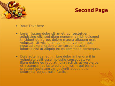Thanksgiving PowerPoint Template, Slide 2, 01615, Holiday/Special Occasion — PoweredTemplate.com