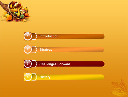 Thanksgiving PowerPoint Template, Slide 3, 01615, Holiday/Special Occasion — PoweredTemplate.com