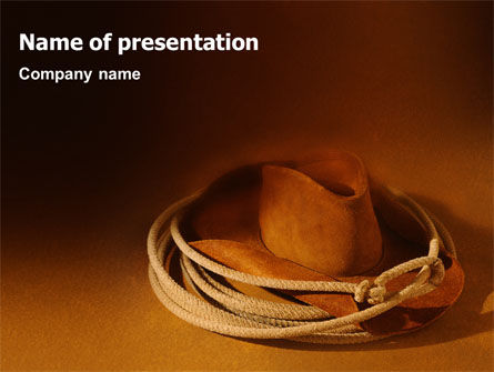 Cowboy Hat PowerPoint Template