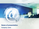 Telecommunication: 파워포인트 템플릿 - 인터넷 회의 #01619
