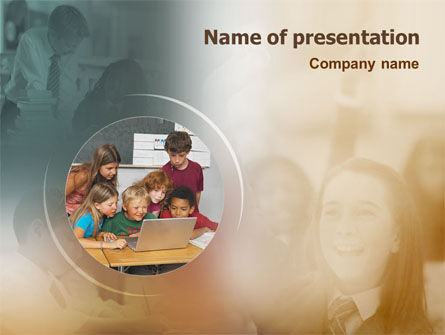 Education & Training: Computer Learning PowerPoint Template #01620