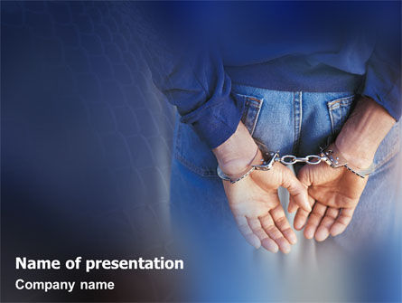 Legal: Punishment PowerPoint Template #01622