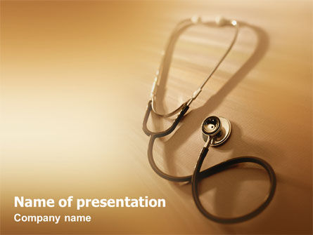 Medical: Phonendoscope In A Brown Color PowerPoint Template #01623